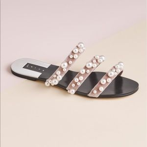 Leith Pearl Stunner Embellished Strappy Sandal